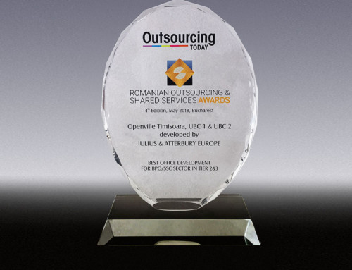 The UBC buildings in the Openville Project won the best office development for companies in the Outsourcing Industry Award